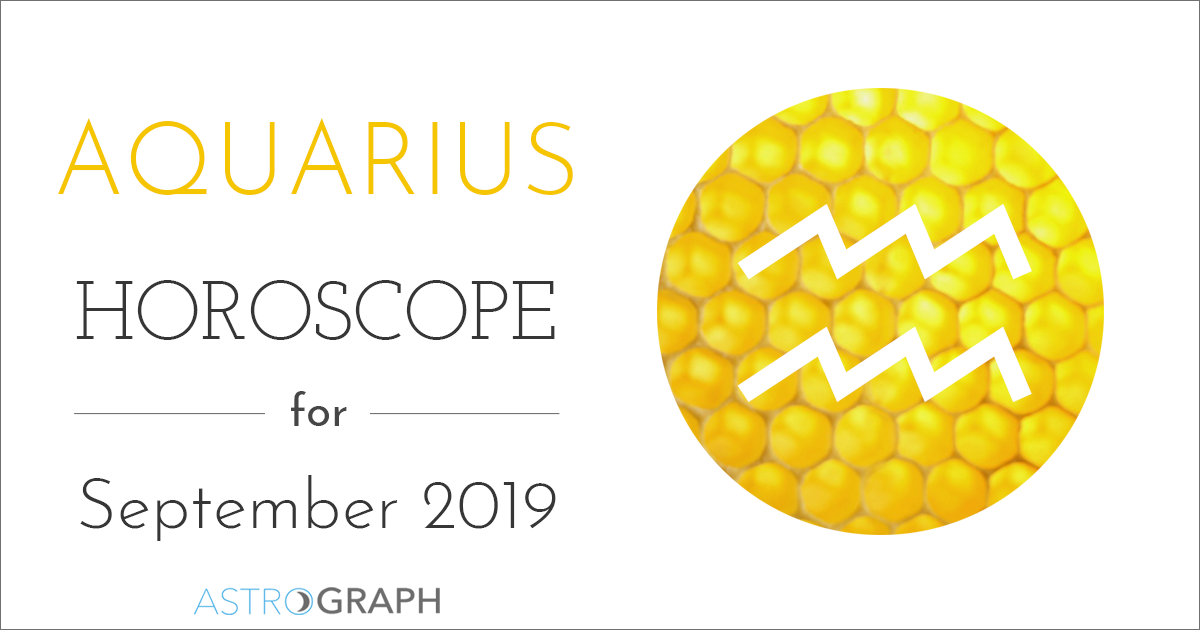 ASTROGRAPH - Aquarius Horoscope for September 2019