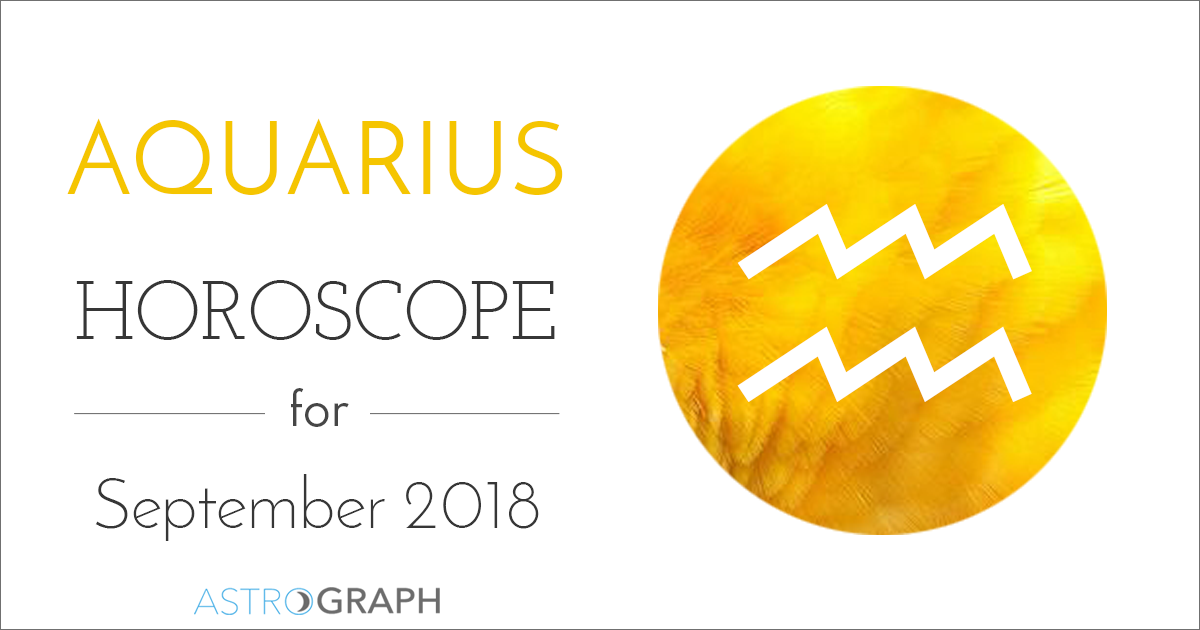 Aquarius Horoscope for September 2018