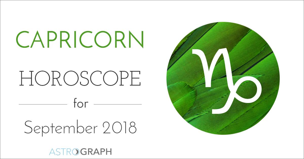 Astrograph Capricorn Horoscope For September 2018