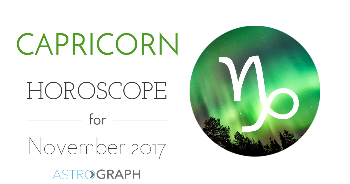 Capricorn Horoscope for November 2017