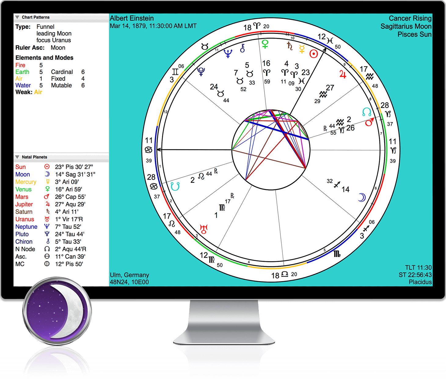Astrograph timepassages astrology software for pc mac iphone timepassages for windows and macos nvjuhfo Images